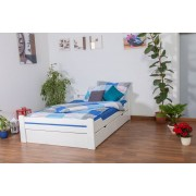 Steiner Shopping Youth bed Easy Sleep K4 incl. 2 underbed drawer and 1 cover plate, solid beech w