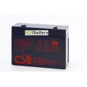 Batería para UPS-SAI 12v 5,1Ah plomo AGM HC1221W CSB