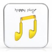 Happy Plugs Yellow Earbud earphones with Mic & Remote