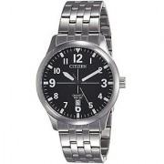 Citizen Quartz Black Round Men Watch BI1050-81F
