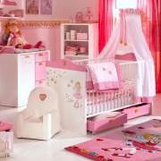 Kinderkamer babyset Prinses Lillifee (2-delig) bed en babycommode in roze en wit, Arte M