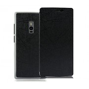 Pudini Yusi Rain Series Leather Flip Cover Stand Case for OnePlus Two / OnePlus 2 - Grayish Black