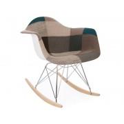 Eames rocking chair RAR - Patchwork bleu