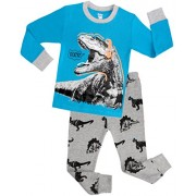 Children Dinosaur Pajamas For Boys Christmas PJs Kids Clothes Size 5 Years