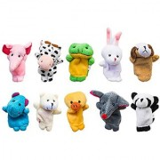 Velvet Cute Animal Style Finger Puppets For Children Shows Playtime Schools - 10 Animals Set By Super Z Outlet