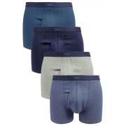 Mens Next Blue A-Fronts Four Pack - Blue