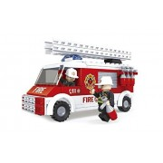 Fire Rescue Brigade Ausini Fire Truck With A Swivel And Extendable Ladder 150pc Set Educational Building Blocks Set Compatible To Lego Parts Best Gift For Boys And Girls