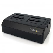StarTech.com - Base de Conexión USB 3.0 con 4 Bahías SATA 6Gbps de 2,5 y 3,5 Pulgadas - Docking Station para HDD SS