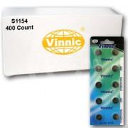 Vinnic S1154 400Ct Watch Batteries 1.55V Silver Oxide 303 SR44