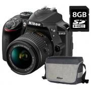 Nikon D3400 kit (18-55mm f/3.5-5.6G VR) + 8GB SD memóriakártya + geantă