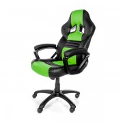 Arozzi Black & Green Monza Adjustable Ergonomic Motorsports Inspired Desk Chair