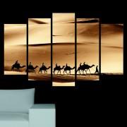 Декоративен панел за стена с пустинен пейзаж и керван камили Vivid Home