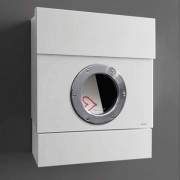 Radius Design Letterman 2 Briefkasten weiß (RAL 9003)-ohne Klingel-ohne Pfosten