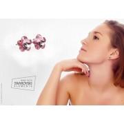 Swarovski virág alakú bedugós fülbevaló