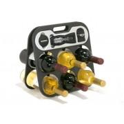 Raft 6 sticle de vin cu accesorii