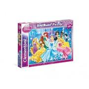 Clementoni - 20128 - Puzzle Classique Brillant - 104 Pièces - Disney Princesses