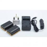 2x LP-E6 LPE6 mur de batterie chargeur de voiture chargeur Chargeur 2in1 pour CANON EOS 6D 7D 60D 5D