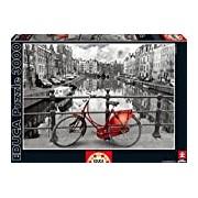 Educa 16018 - Amsterdam, Netherlands - 3000 pieces - Coloured Black & White Puzzle