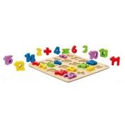 Hape E1504 - Puzzle dei Numeri, Multicolore