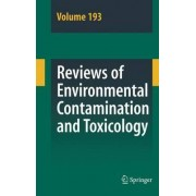 Reviews of Environmental Contamination and Toxicology 193 by Dr. George W. Ware