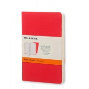 Moleskine Volant Journal (Set of 2), Pocket, Ruled, Geranium Red, Scarlet Red, Soft Cover (3.5 X 5.5)