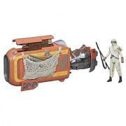 Star Wars - The Force Awakens Reys Speeder Bike with Rey Jakku Action Figure