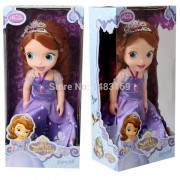 2016 Hot Now fashion Original edition Sofia the First princess Bobbi doll VINYL toy boneca accessories Doll For Kids Best Gift