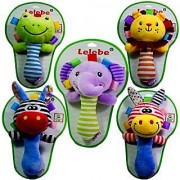 Magideal Cartoon Frog Animal Plush Toy Baby Kids Handbell Hand Bell Rattle