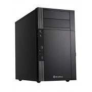 SilverStone SST-PS07B - Precision Boîtier PC mini tour Micro ATX - noir - noir