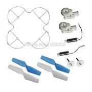 Generic white set : MJX X300 X300C RC Quadcopter Drone Spare Parts Main blades + motor + blade frame + motor base + main gear
