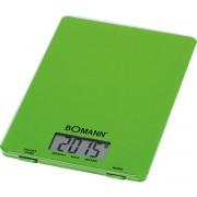 Bomann KW 1515 - Báscula de cocina digital, 5 kg, pasos 1 g, función tara, color verde