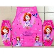 CJB Sofia the First Princess Kids Waterproof Apron Sleeves Set Pink Purple 5-14T (US Seller)