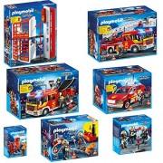 PLAYMOBIL Bomberos Set 5361 5362 5363 5364 5365 5366 5367 puesto de bomberos + Camión de bomberos + Bomberos Camion + camión de jefe de bomberos + bomberos con bomba + Bomberos + comando especial de la cuerpo de bomberos