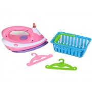 Dazzling Toys Happy Family Kids Pretend Play Ironing Set Includes Ironer, Laundry Basket and accessories.