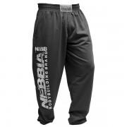 Nebbia - Tepláky fitness 710 pánske tmavosivé XL