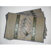 Place mats Thai Elephant Handmade Wicker Reed Colour Options
