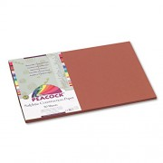 Peacock Sulphite Construction Paper, 76 lbs., 12 x 18, Brown, 50 Sheets/Pack