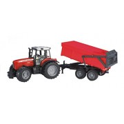 Bruder Toys Massey Ferguson 7480 with Tipping Trailer