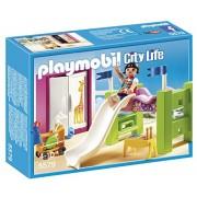PLAYMOBIL Children's Room with Loft, Bed & Slide Set