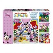 Educa Disney Minnie egér és barátai puzzle, 4 az 1-ben