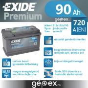Exide Premium 90Ah 720A J+