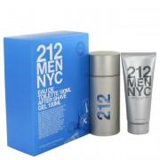 Carolina Herrera 212 Eau De Toilette Spray 3.3 oz / 97.59 mL + After Shave Gel 3.3 oz / 97.59 mL Gift Set Fragrance 414595