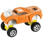 Snap Rides Team Hot Wheels Orange Speed Racer Custom Car Set - Build Create & Race
