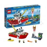 Lego Конструктор Lego City 60109 Лего Город Пожарный катер