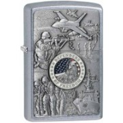 Zippo Classic Joined Forces Street Chrome Locking Carabiner(Silver)