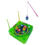 Pocket Travel Wind Up Magnetic Fishing Game (Assorted colors)