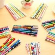 6 pcs/set Cute pens 0.38mm ballpoint pens Black color gel pen set Cartoon kitty hero Office accessories School supplies A6824