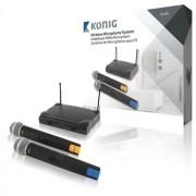 Sistem wireless cu 2 microfoane König - vit_KN-MICW611