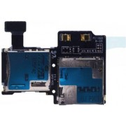 Samsung Galaxy S4 i9505 Simkaart Tray SD Card Lezer / Reader kaart houder Geheugen Memory Tray Slot Flex Kabel Vervangend onderdeel