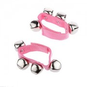 Banggood 1 Pair Pink Jazzy Jingles 4 Bells Children Wrist Bell Hand Ringing Bracelet